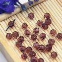 Beads, Auralescent Crystal, Crystal, Brown , Faceted Rounds, Diameter 4mm, 10 Beads, [ZZC212]